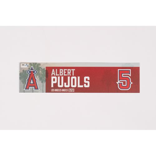 Photo of Albert Pujols 2020 Team Issued Locker Tag