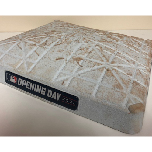 Photo of Game Used 1st Base - 2021 Opening Day at Chase Field - 4/9/2021 vs. Reds - Innings 7-10