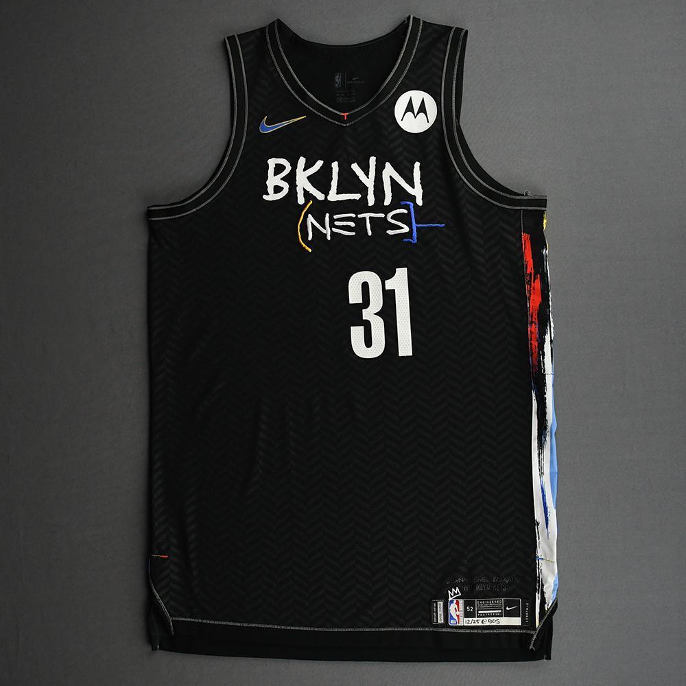 Jarrett Allen - Brooklyn Nets - Game-Worn City Edition Jersey - 2020-21 NBA Season