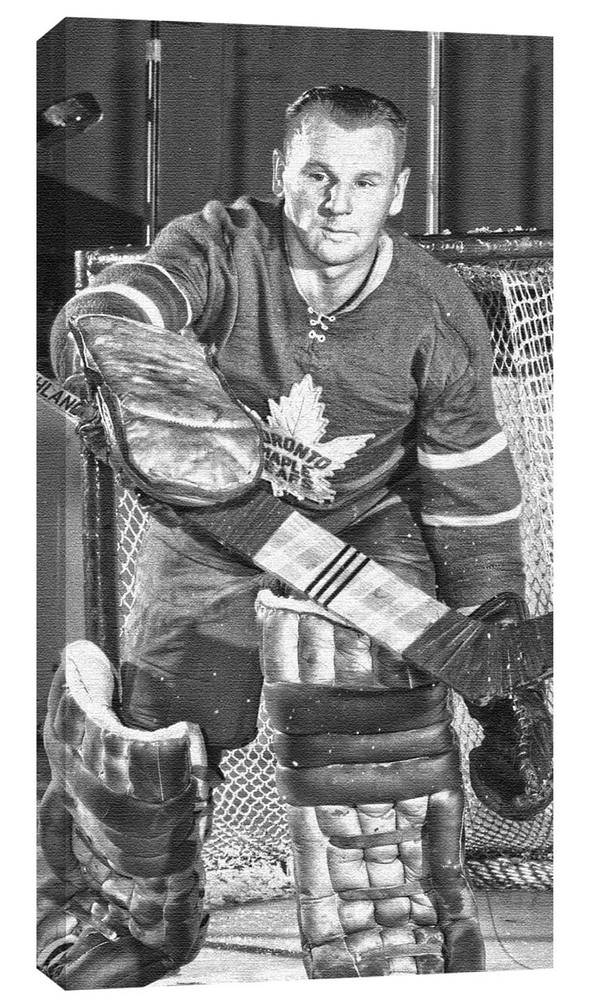 Johnny Bower - 14x28 Toronto Maple Leafs Canvas