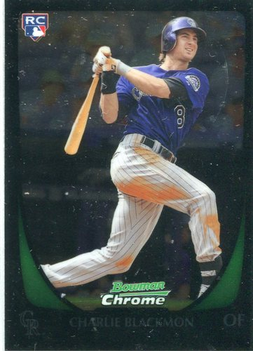Photo of 2011 Bowman Chrome Draft #7 Charlie Blackmon Rookie Card