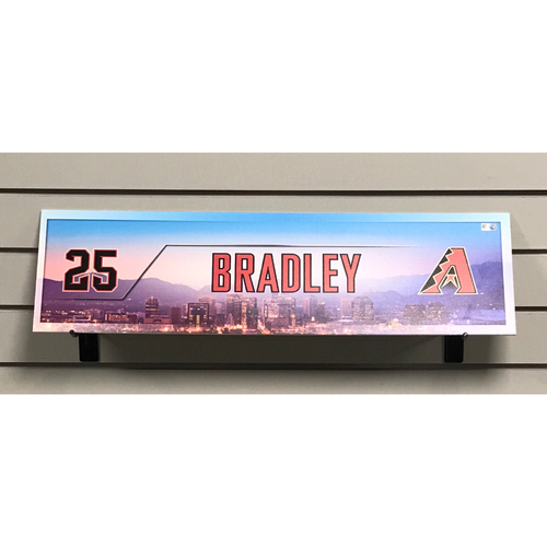 Archie Bradley Game-Used 2017 Nameplate