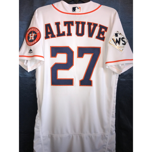 Photo of 2017 World Series Team-Issued Jose Altuve Home Jersey