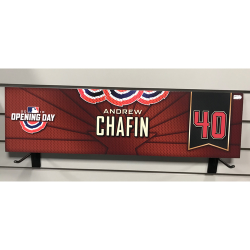 Photo of 2018 Andrew Chafin Opening Day Nameplate