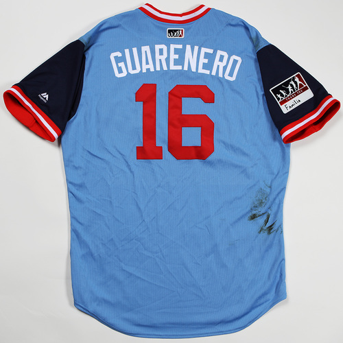 "Photo of Ehire ""Guarenero"" Adrianza Minnesota Twins Game-Used Jersey 2018 Players' Weekend Jersey"