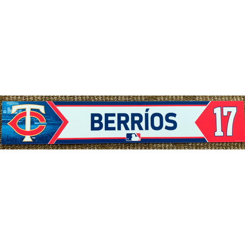 Photo of 2018 Game-Used Jose Berrios Minnesota Twins Lockertag
