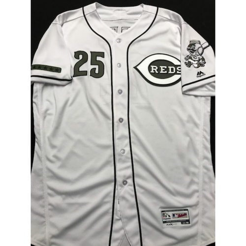 Photo of Cody Reed - Game-Used - Military Appreciation Jersey; Size 46; (7/3 Went 5.1 IP, 5 K, 5 ER)