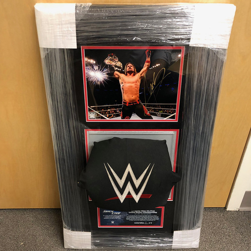 Photo of AJ Styles SIGNED SmackDown Photo & Used Turnbuckle Commemorative Plaque (#5 of 10)