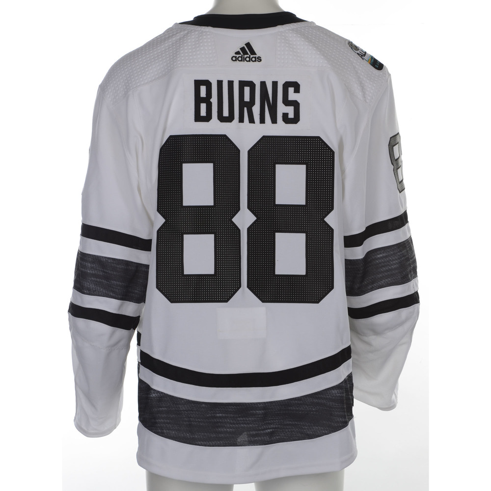 promo code 2f4dd a72ee Brent Burns San Jose Sharks 2019 NHL All Star Game Media Day ...