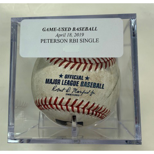 Photo of Game-Used Baseball: Dustin Peterson RBI Single