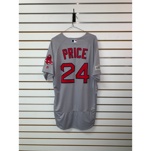 Photo of David Price Game Used September 23, 2017 Road Jersey