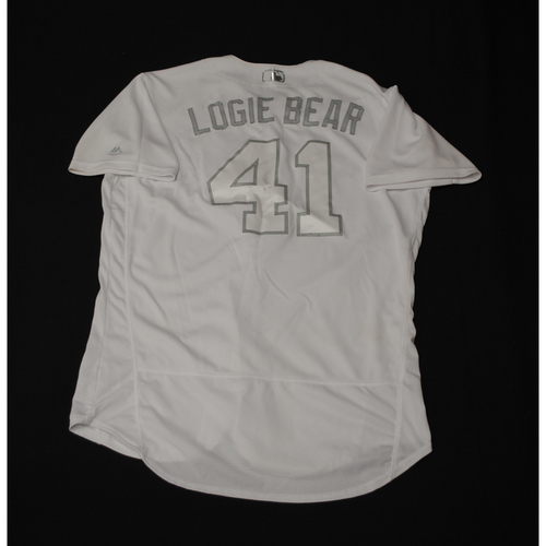 "Photo of Logan ""LOGIE BEAR"" Forsythe Texas Rangers Game-Used 2019 Players' Weekend Jersey"