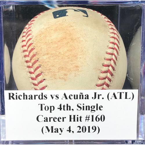 Photo of Game-Used Baseball: Ronald Acuña Jr. (ATL), Top 4th, Single - Career Hit #160 (May 4, 2019)