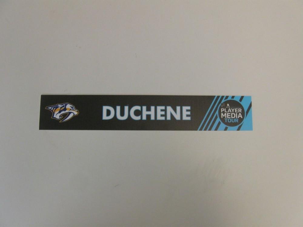 Matt Duchene Locker Room Nameplate from 2019 Player Media Tour - Nashville Predators