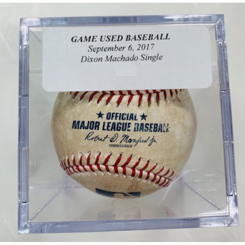Photo of Game-Used Baseball: Dixon Machado Single