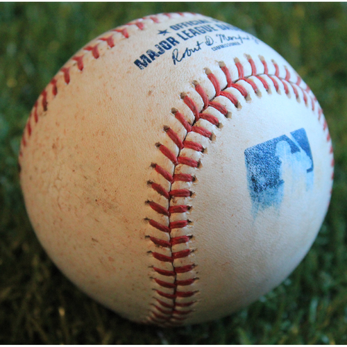 Photo of Game-Used Baseball: JD Davis 124th Career Hit (8/16/19 - NYM @ KC)