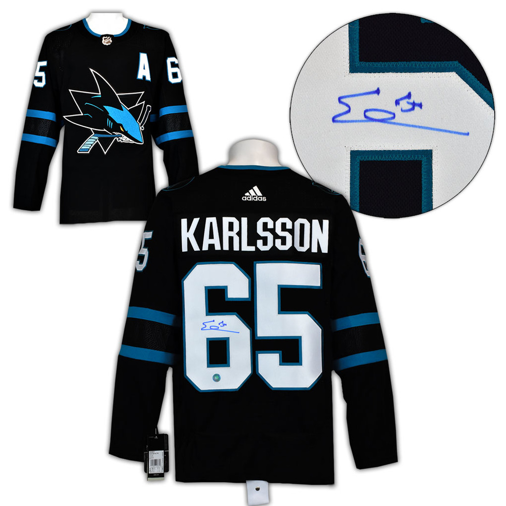 Erik Karlsson San Jose Sharks Signed Alternate Adidas Authentic Hockey Jersey