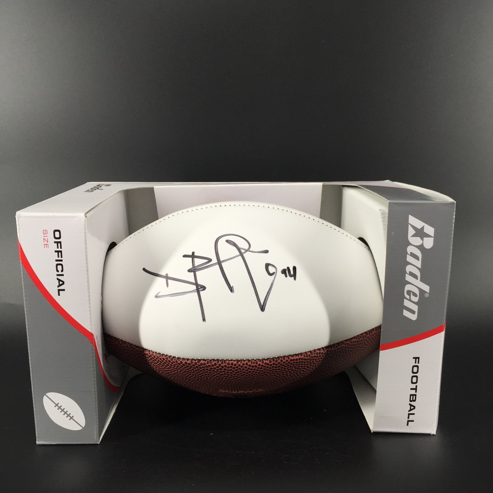 Broncos - Domata Peko Signed Panel Ball w/ Broncos Logo
