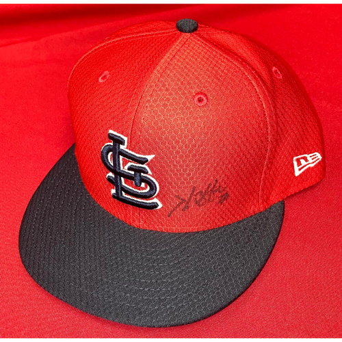 Photo of Kwang Hyun Kim Autographed Team-Issued Batting Practice Cap (Size 7 7/8)