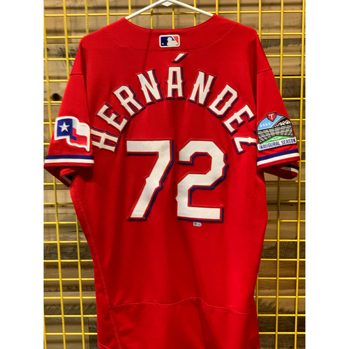 Photo of Jonathan Hernandez Team-Issued Red Jersey