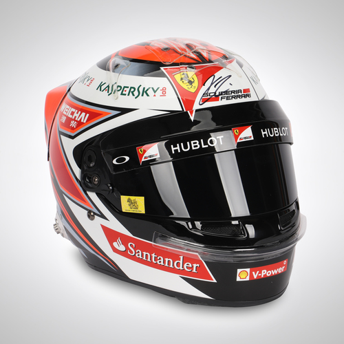 Photo of Kimi Raikkonen 2015 Signed Race Spec Helmet
