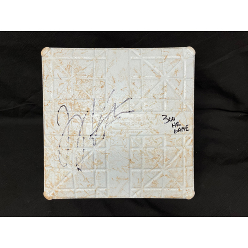 Photo of Joey Votto *Game-Used, Autographed & Inscribed* Third Base (Innings 1-4) -- Used On Field for Joey Votto's 300th Career Home Run -- CHC vs. CIN on 04/30/2021