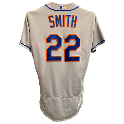 Photo of Dominic Smith #22 - Team Issued Road Grey Jersey - 2018 Season