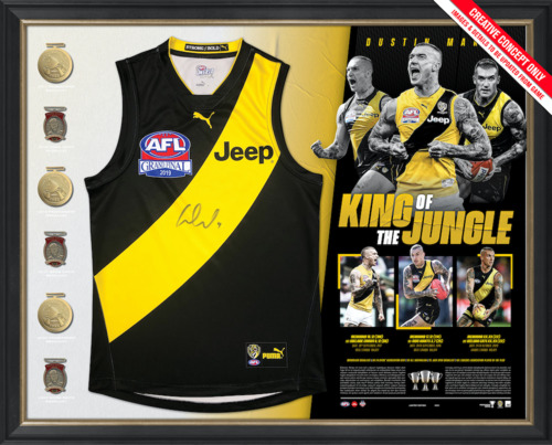 Photo of Dustin Martin Signed Deluxe Guernsey Display - Edition #19