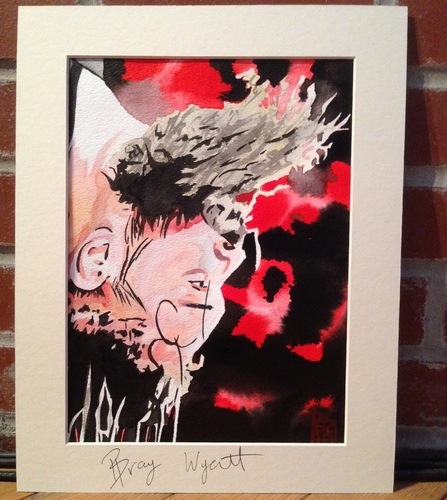 Bray Wyatt Signed Painting by Rob Schamberger