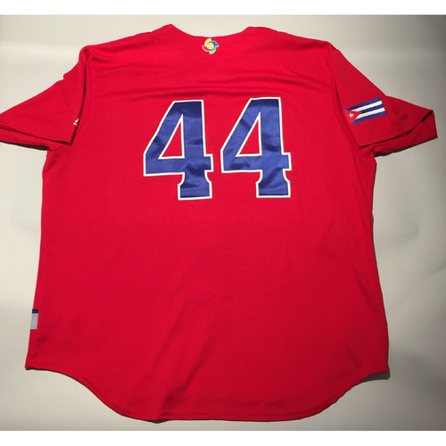 2017 WBC: Cuba Game-Used Batting Practice Jersey, #44