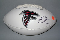 FALCONS - SEAN WEATHERSPOON SIGNED PANEL BALL W/ FALCONS LOGO