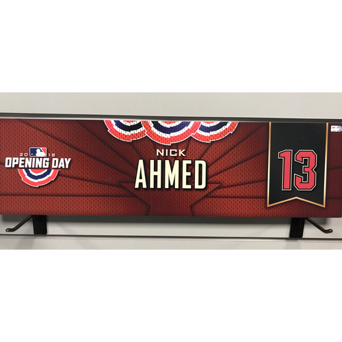 Photo of 2018 Nick Ahmed Opening Day Nameplate