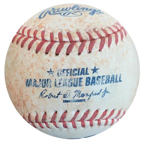 Photo of Game-Used Baseball from Pirates vs. Dodgers on 8/8/15 - Howie Kendrick Single