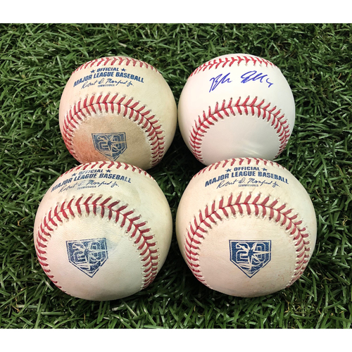 Photo of 2018 All-Star Package #4: Blake Snell - Autographed Baseball and Game Used Baseballs (Blake Snell strikes out the side on July 1, 2018 v HOU - Tyler White, Josh Reddick and Max Stassi)