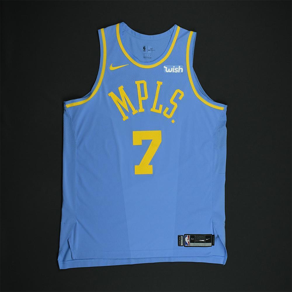 Larry Nance Jr. - Los Angeles Lakers - Game-Worn Classic Edition Minneapolis Lakers 1948-52 Road Jersey - 2017-18 Season
