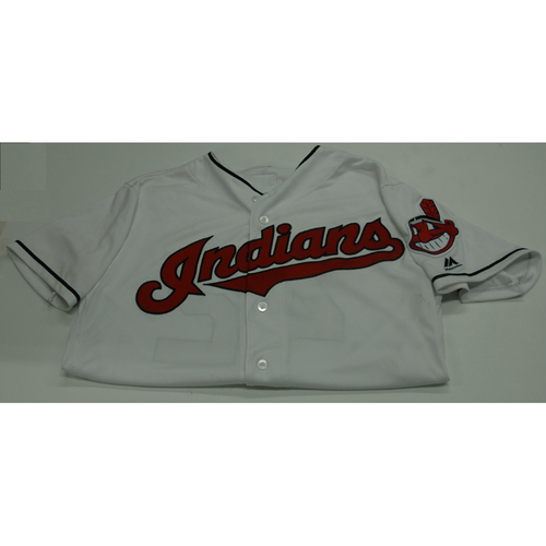 Photo of Cleveland Indians Michael Martinez 2017 Game Used Jersey - 4/15/17 vs. Tigers