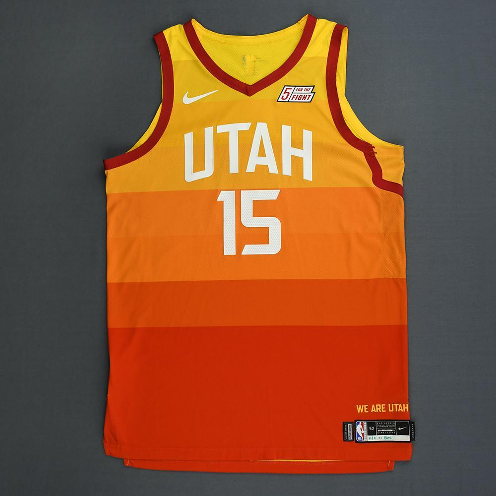 huge selection of a459f 00844 Derrick Favors - Utah Jazz - Game-Worn City Edition Jersey ...
