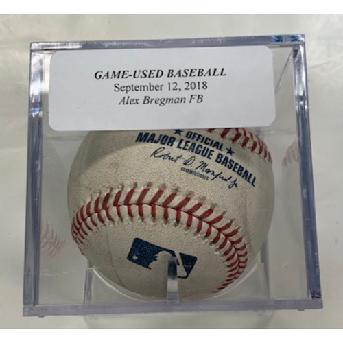 Game-Used Baseball: Alex Bregman Foul Ball