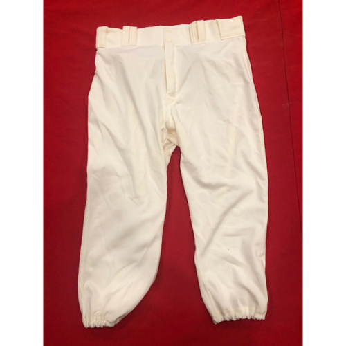 Photo of Luis Castillo -- Game-Used Pants -- 1912 Throwback Game -- Dodgers vs. Reds on May 19, 2019 -- Size: 36-41-22