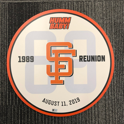 Photo of 2019 Ceremony Disc - 1989 World Series Team Reunion Day