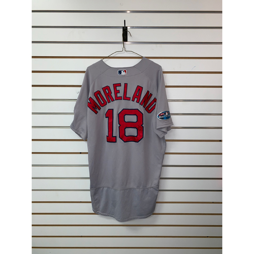 Photo of Mitch Moreland Game Used October 8th & October 16th, 2018 Road Jersey