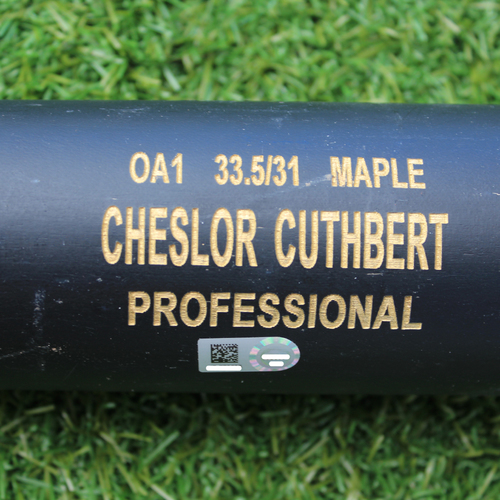 Photo of Game-Used Broken Bat: Cheslor Cuthbert 209th Career Hit and 90th Career RBI (6/17/19 - KC @ SEA)