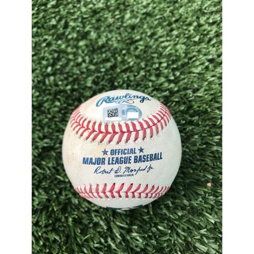 Photo of Cardinals Authentics: Game Used Pitched Baseball by Dakota Hudson to Josh Donaldson and Nick Markakis *Donaldson Single, Markakis Ground out*