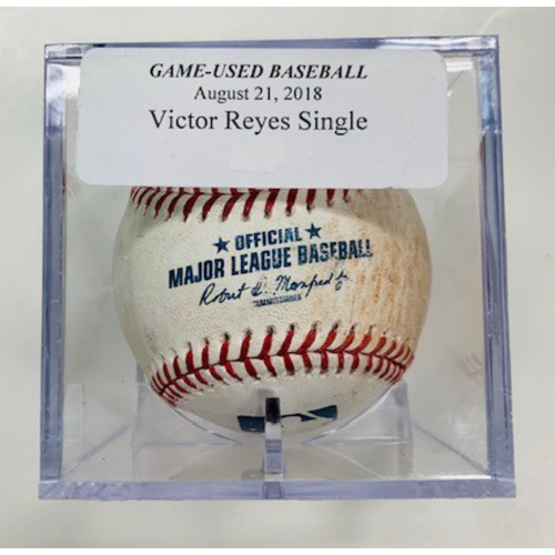 Photo of Game-Used Baseball: Victor Reyes Single