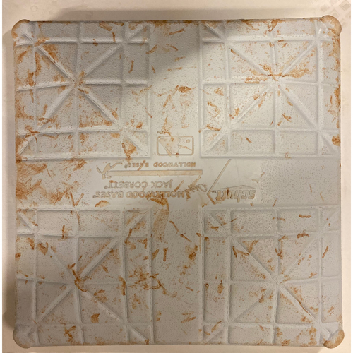 Photo of 2019 NLDS Game Used Base - Second Base Used During 7th Inning - 10/3/19