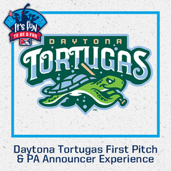 Photo of Daytona Tortugas First Pitch & PA Announcer Experience