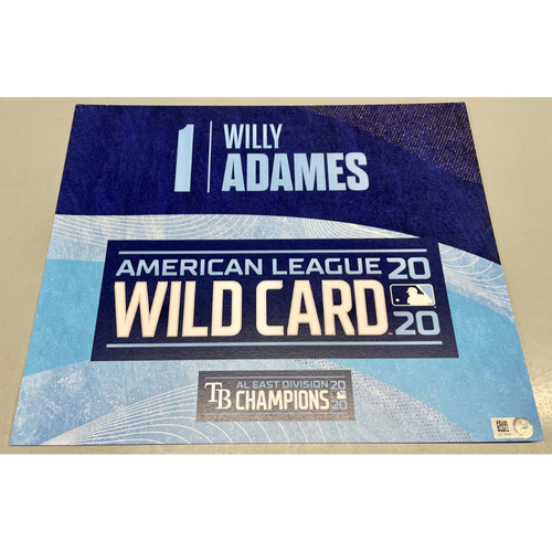 Photo of Team Issued ALWCS Locker Tag: Willy Adames - 2020 Postseason