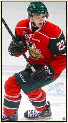 Nathan MacKinnon - Signed & Framed 14x28 Canvas - Halifax Mooseheads