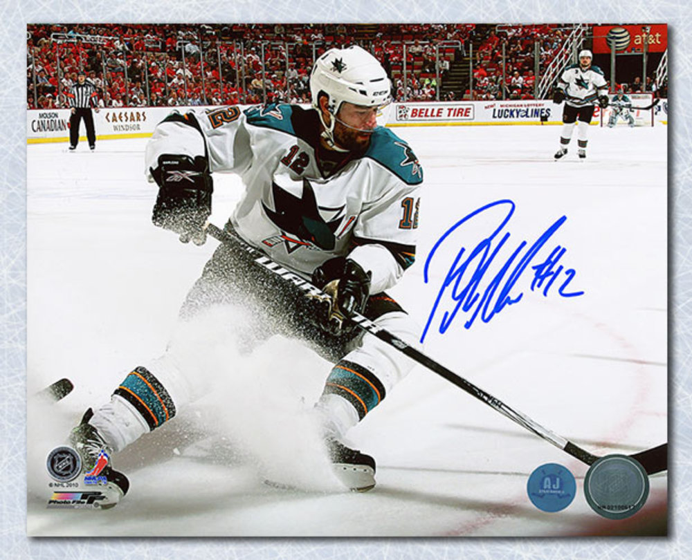 Patrick Marleau San Jose Sharks Autographed Ice Spray 8x10 Photo