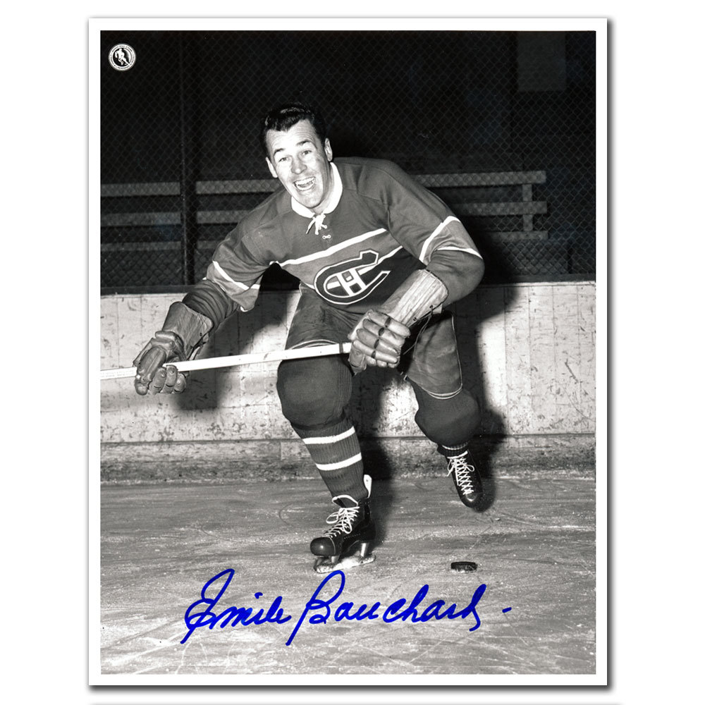 Emile Bouchard Montreal Canadiens Autographed 8x10